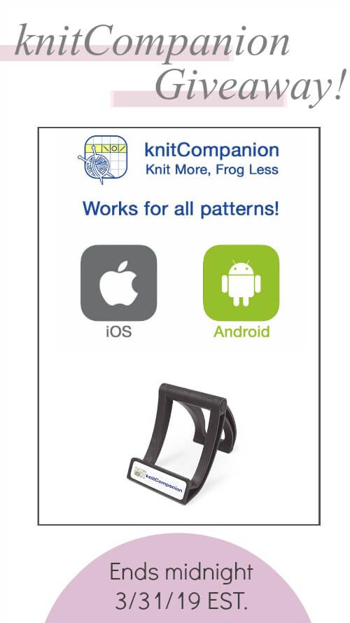 Make your next knit or crochet project a breeze with knitCompanion. Read about the free app and enter to win the full version plus a device stand!