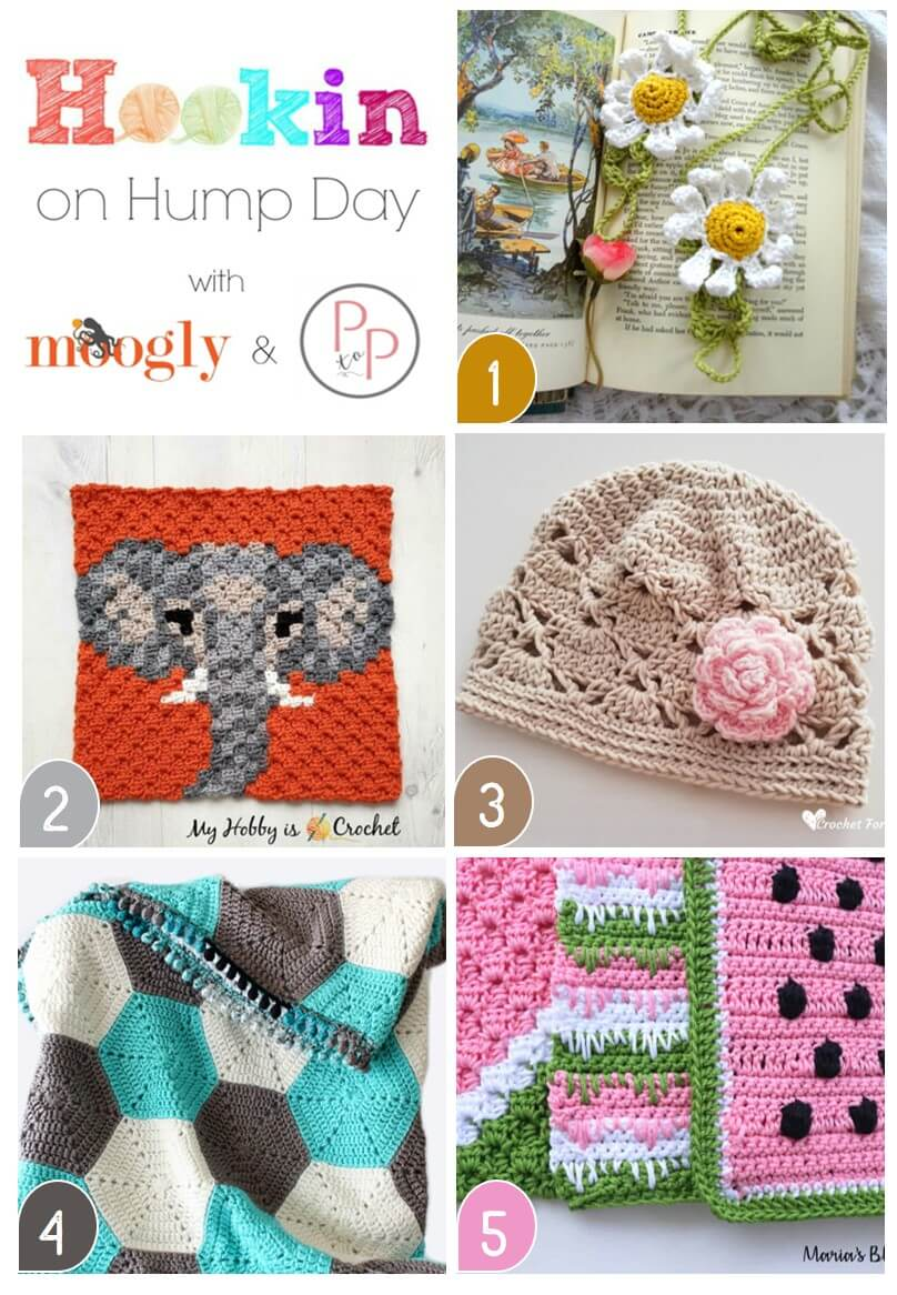 We\'ve got lots of great free crochet patterns featured this week on Hookin\' on Hump Day!