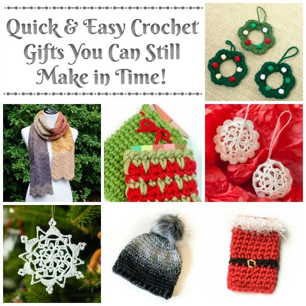 Looking for crochet gifts ideas you can still make in time? Try out these quick and easy crochet patterns that can be worked up in no time!