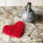 Sweetheart Scrubby Single Crochet Heart Pattern