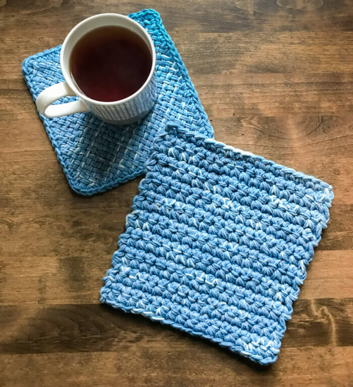 Easy Crochet Hot Pads Worked With Two Strands of Yarn