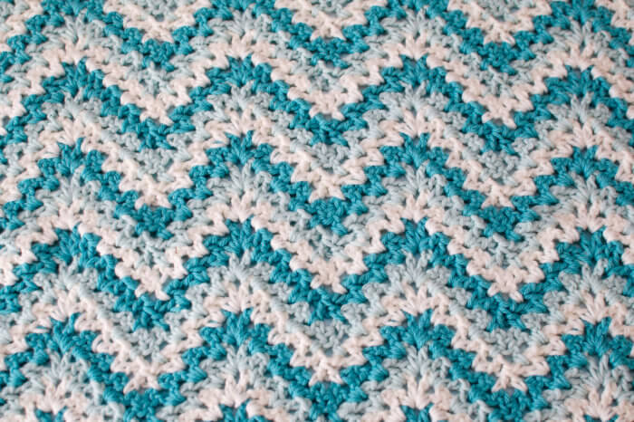 Lacy Ripple Baby Blanket and Matching Hat Crochet Pattern